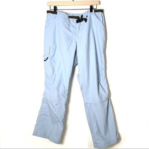REI light blue athletic convertible hiking pants